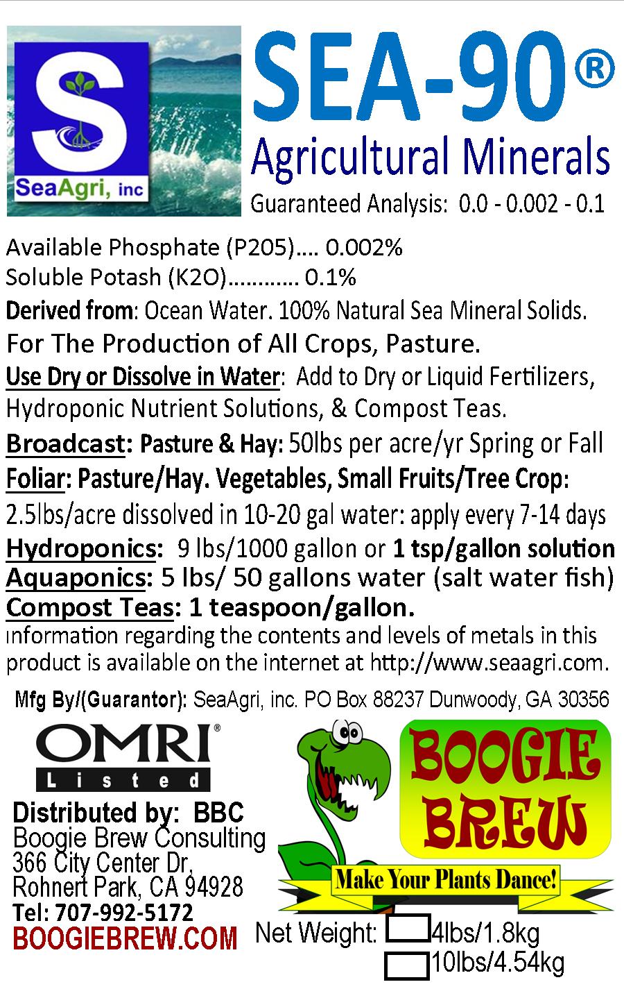 SEA90 40LB Organic Mineral & Trace Element