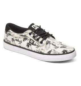 Scarpe-Uomo-Skate-DC-Council-SP-Nero-Bianco-Hawaii-Chaussures-Zapatos-Schuhe