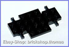 Lego Auto Chassis  schwarz 4 x 7 x 2/3 - 2441 - Vehicle, Base Black - NEU / NEW