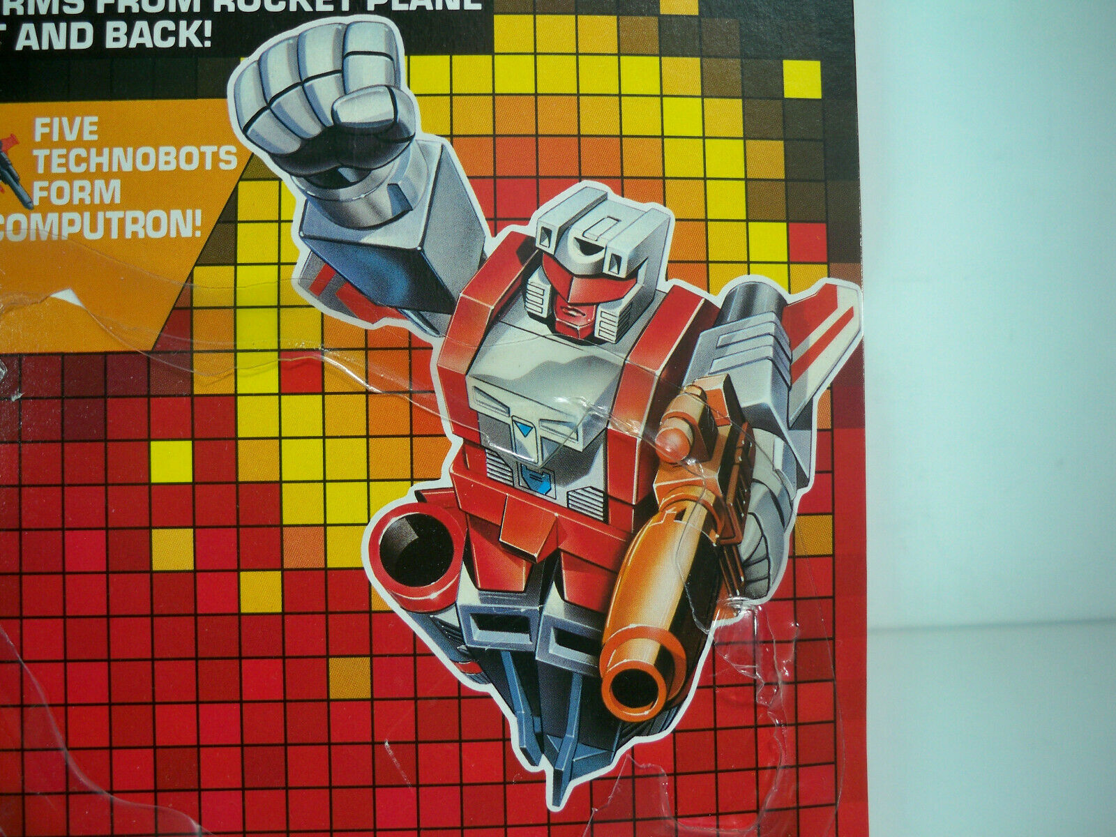 K200023 Scheda mitragliate COMPLETO POSTERIORE 1987 G1 Trasformatori integro technobot vintage