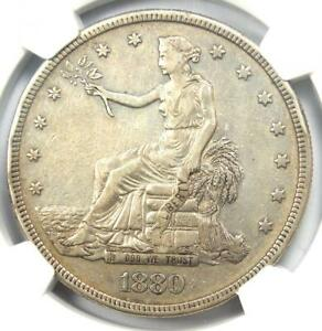 1880 PROOF Trade Silver Dollar T$1 Coin - Certified NGC Proof XF Detail (PF PR)