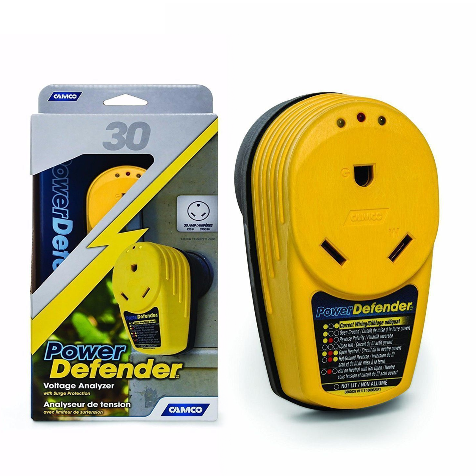 Power Defender Circuit Analyzer Wiring Surge Protector 30 Amp Rv Reverse Polarity Click Thumbnails Above To Enlarge