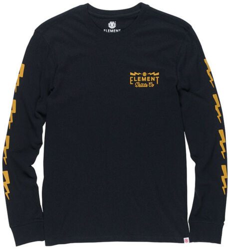 Element Zap Long Sleeve T-Shirt in Flint Black