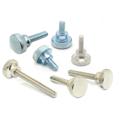 Zinc Plated M3//4//5//6//8//10 High Knurled Thumb Screws Hand Grip Knob Bolt Nickel