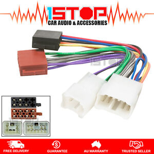 iso wiring harness for toyota landcruiser 80/100/200 series cable connector  lead |