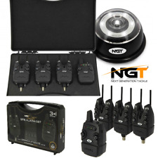 Build in snags Case NGT Tackle Wireless Carp Fishing Bite Alarm Set of 3