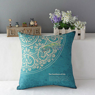 Cotton Linen National Style Pillow Case Cover Back Cushion Home Sofa Decorative
