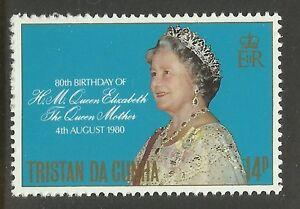 TRISTAN-DA-CUNHA-1980-80th-Birthday-QUEEN-ELIZABETH-QUEEN-MOTHER-1v-MNH