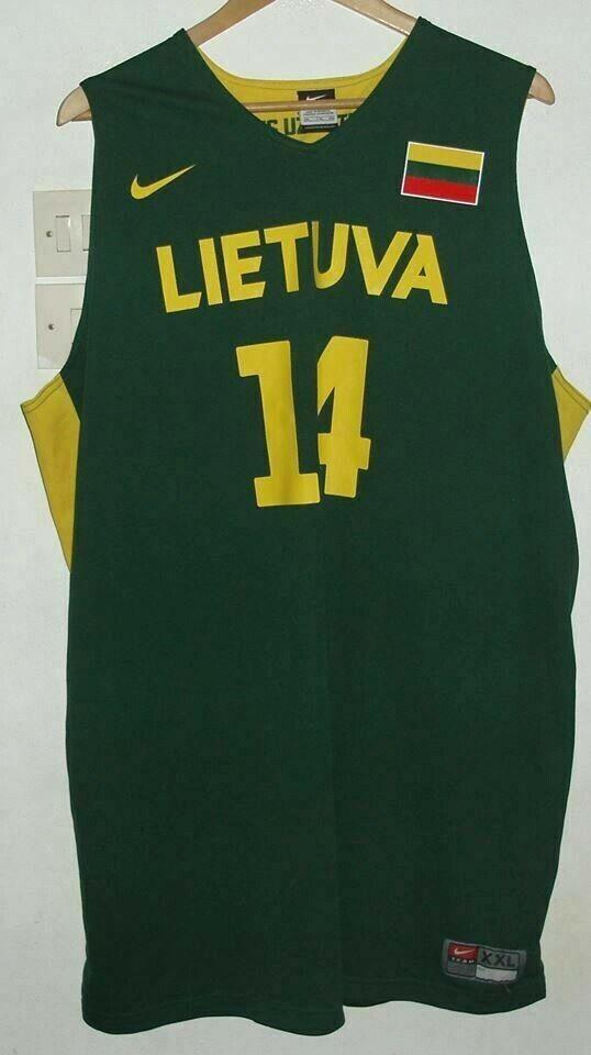 LATVIA LETTONIA RARE BASKETBALL SHIRT BY NIKE XXL VALANCIUNAS JERSEY