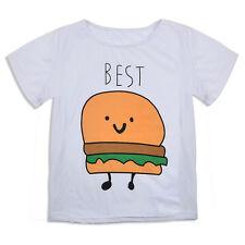 Best Hamburger Women's Summer Short Sleeve Vest Top Blouse Casual T-Shirt