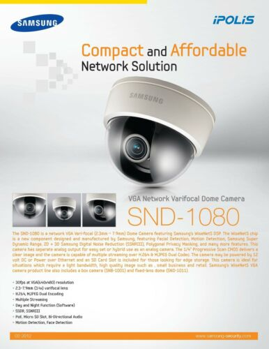 Samsung SND-1080 Network Camera 64 Bit