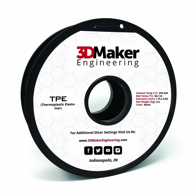 TPE Pro Series Flexible 3D Printer Filament - 3DMaker Engineering