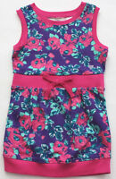 Guess Jeans Dress 3 3t Girl's Purple Pink Flowers Sleeveless Free Ship