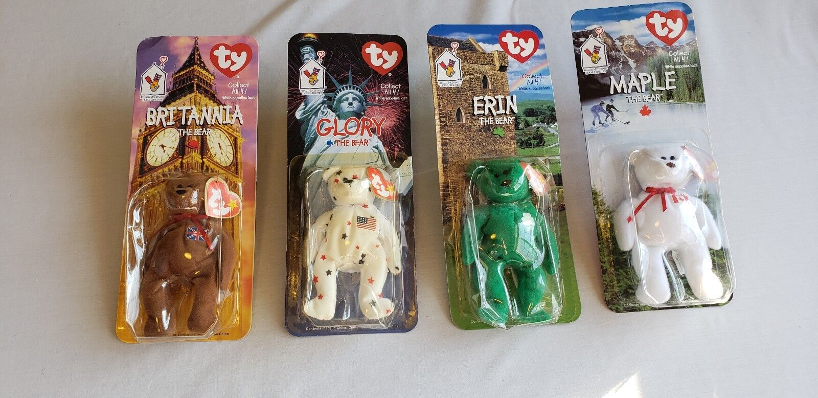 TY McDonalds International Bear Collection Teenie Beanie Babies