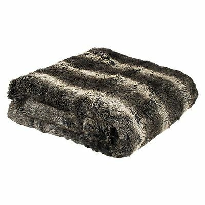 NEW Bambury Wolf Faux Fur Throw