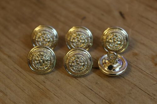6x The Cheshire Regiment Small Buttons 14mm Gaunt B/'Ham