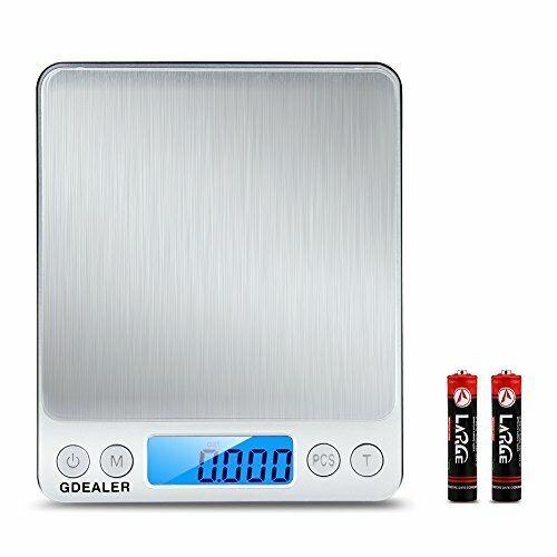 GDEALER DS1 Digital Pocket Kitchen Multifunction Food Scale