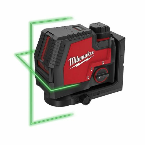 MILWAUKEE  m12 REDLITHIUM USB RECHARGEABLE GREEN CROSSLINE LASER LINE /& CHARGER