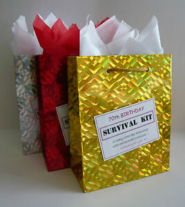 Image Is Loading FEMALE 70th Birthday SURVIVAL KIT Humorous Gift Idea