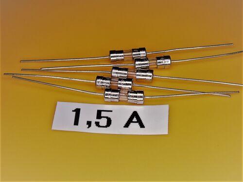 rapida//Fast 3,6 x 10mm 5 pezzi-picofuse backup 1,5a 250v assiale
