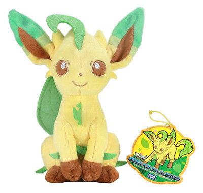 Pokemon 8'' Leafeon Takara Tomy Plush Licensed NEW