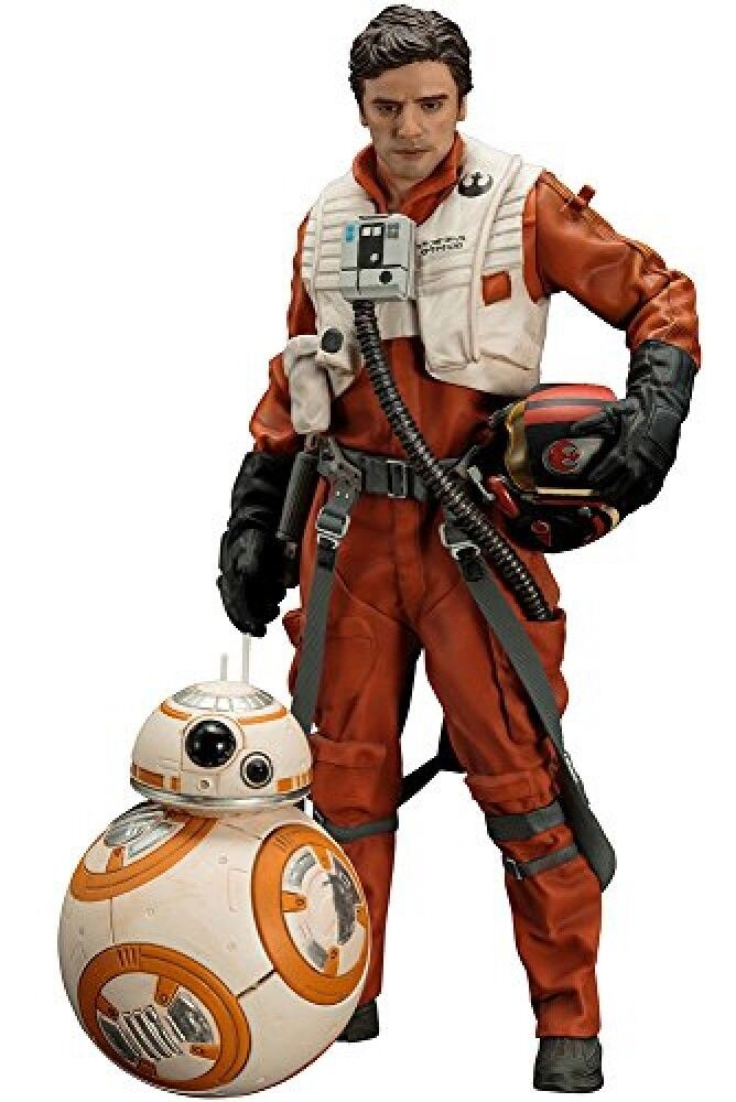 Kotobukiya ARTFX+ Star Wars The Force Awakens Poe Dameron BB-8 Easy Assembly Nuovo