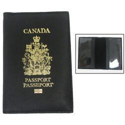 Canada Echtleder Passport Hülle Halter Schwarz Klapphülle Karte Schutz