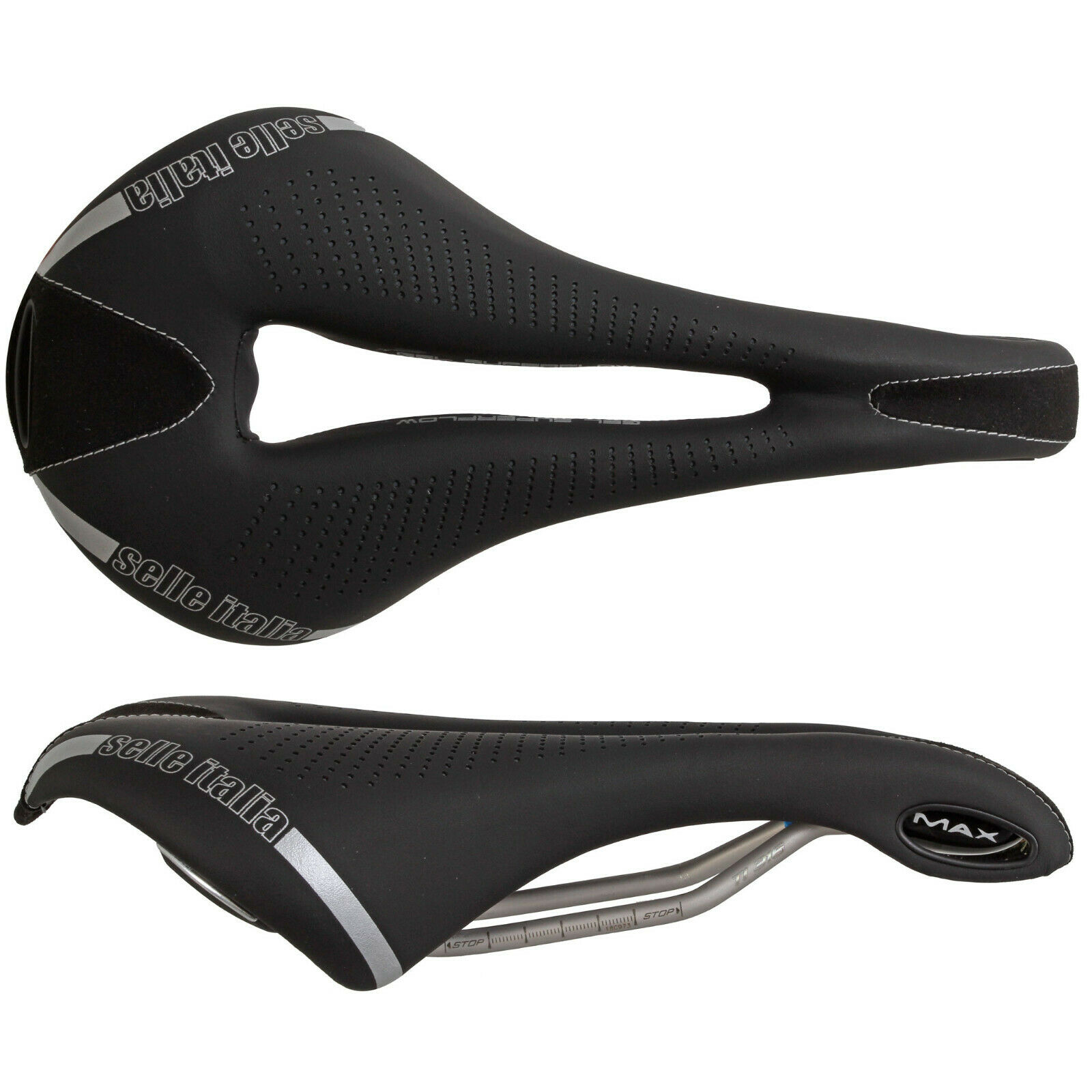Selle Italia Max Flite Gel SuperFlow BICICLETTA SELLA SEDILE BICINero