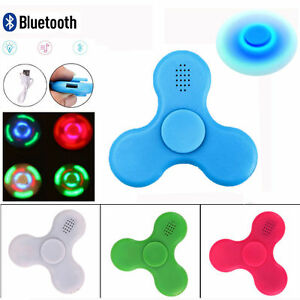 Bluetooth Speaker Hand Fidget Spinner With LED Light Gyro Desk Toys Anti-anxiety