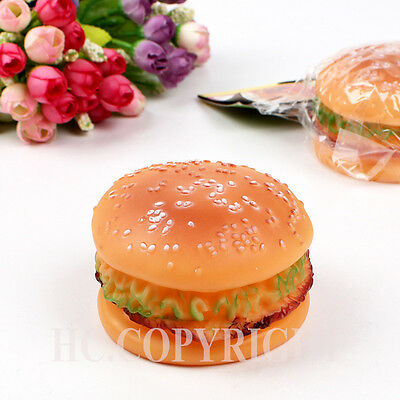 Dog Puppy Pet Chews Squeaky Squeaker Sound Burger Dumbell Rubber Tire Shape Toys