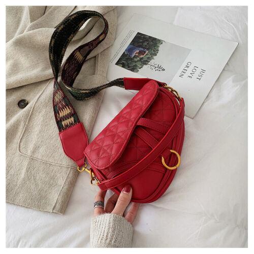New 2019 Linger Handbag Saddle Bag Wide Shoulder Strap Single Shoulder Slant Bag