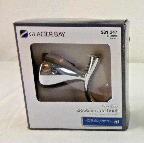Glacier Bay Edgewood Series Double Robe Hook in Chrome
