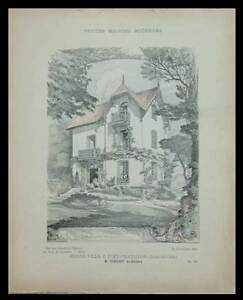 VIRY-CHATILLON-VILLA-1906-PLANCHES-ARCHITECTURE-FORGEOT