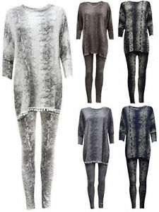 Tracksuits & Sets Aspiring New Women's Snake Print Pom Pom Tracksuit Ladies Loungewear Jogging Lounge Suit Activewear Choice Materials