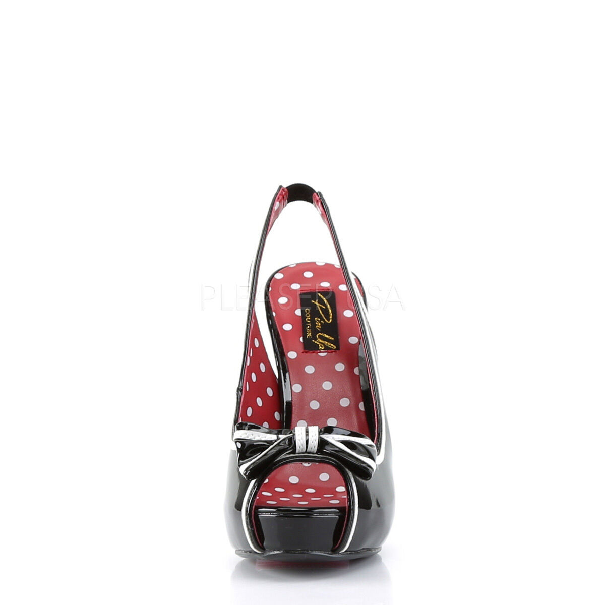 PLEASER BETTIE 05 PIN UP COUTURE 4 1 2    HIGH HEEL SLINGBACK schuhe 50'S RETRO 1db165