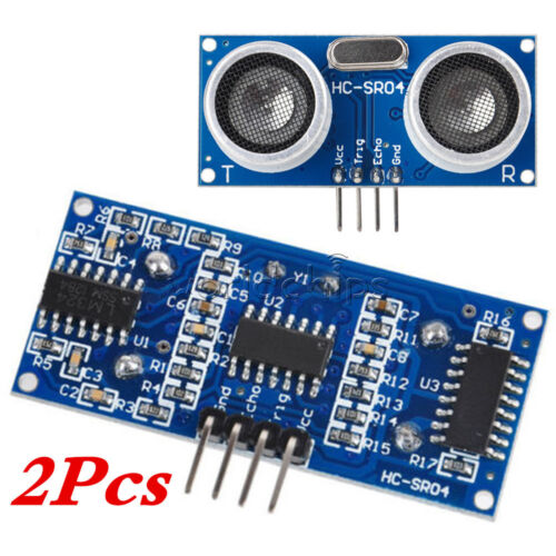 2PCS Ultrasonic HC-SR04 Distance Transducer Sensor For Arduino Robot WC