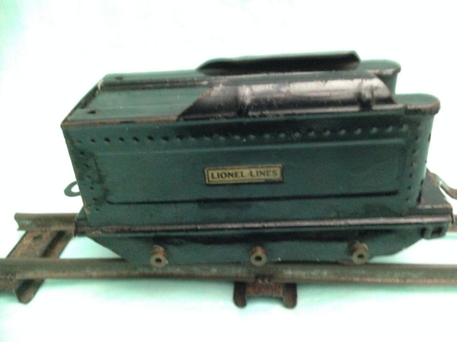 Vintage Lionel Tinplate 6 wheel Tender  O Gauge RARE