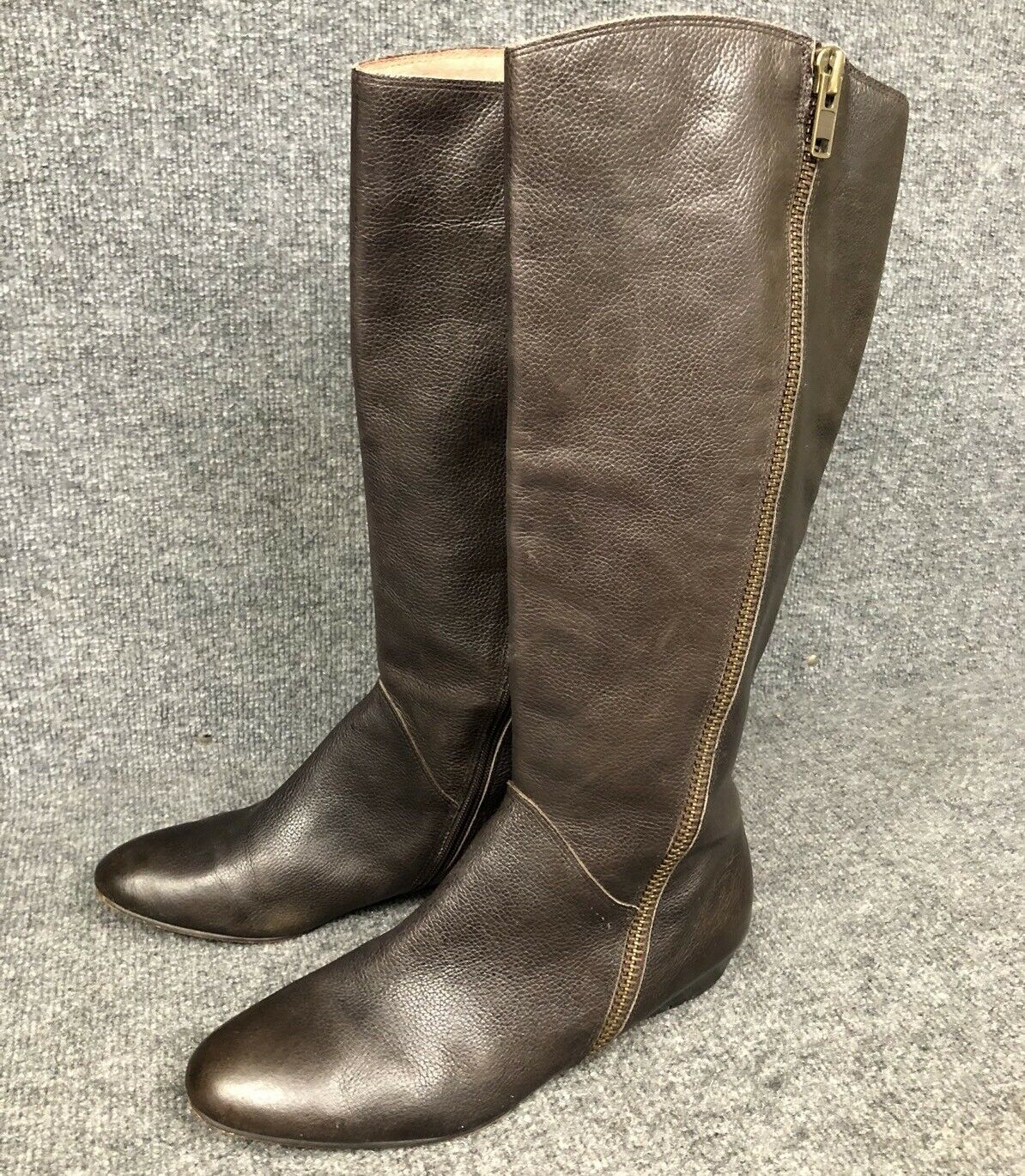 CORSO COMO TALL BROWN LEATHER BOOTS SZ 11M  MSRP9+ IN EUC