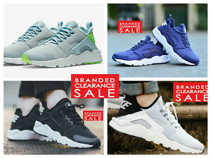 BNIB-New-Women-Nike-Air-Huarache-Run-Ultra-White-Black-Turquoise-Size-4-5-6-7-UK