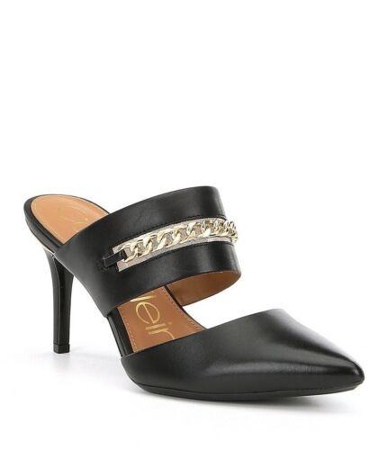 Taglia Dress Detail Dress Black Ginette 191712039140 Klein Mules Calvin 8m PxwqI10BBn