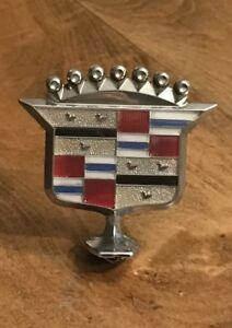 Cadillac Hood Ornament Decal Emblem Logo Chrome Metal Car Parts