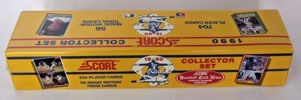 1990 Score Baseball Cards Complete Factory Set Of 704 Cards New Shrink Wrap
