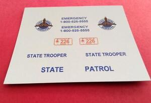 TEXAS HIGHWAY PATROL 1//24-1//25 Scale Waterslide Police Decals