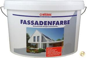 15 L Wilckens Fassadenfarbe Weiss Fassade Wandfarbe Außen (2,46 €/L)