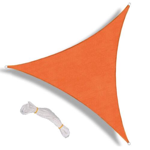 300D Sun Shade Sail Garden Patio Canopy UV Block Triangle Waterproof 3 Sizes