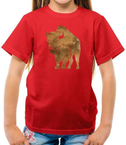Love Animal Vet Space Bison Gift Buffalo Kids T-Shirt