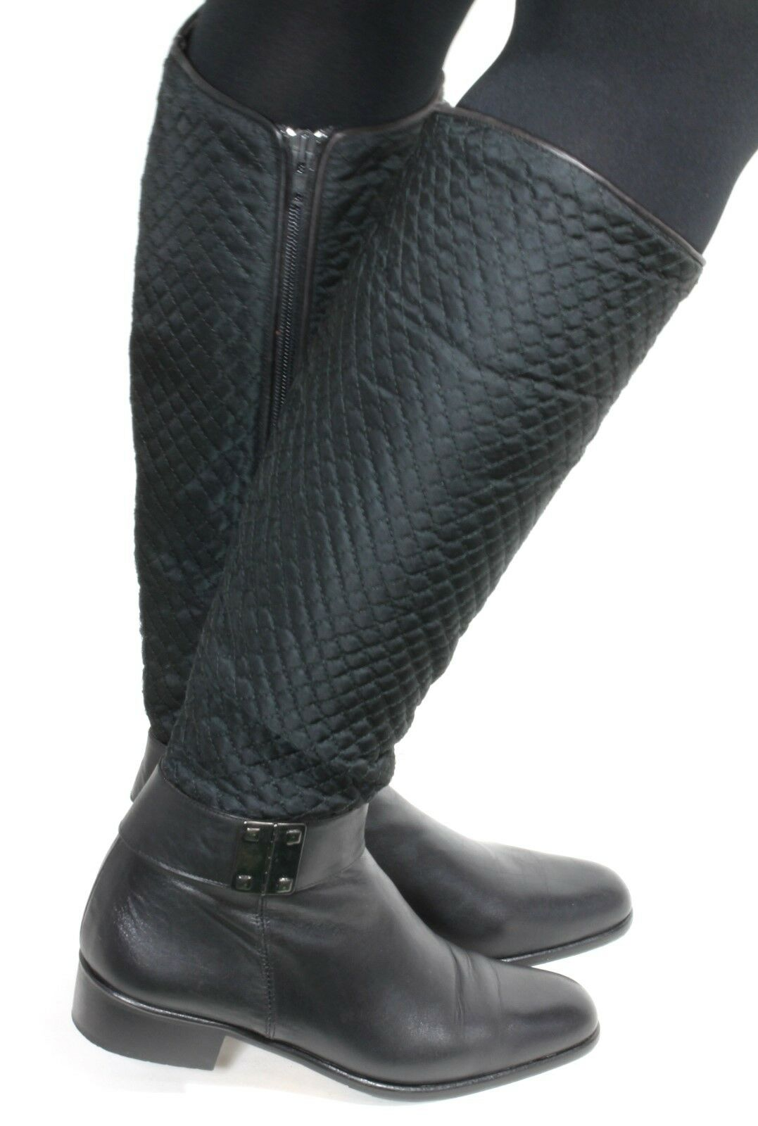 Leder Vintage Reiterstiefel Military Damenstiefel Hipster Zipper Agnese Rom 37
