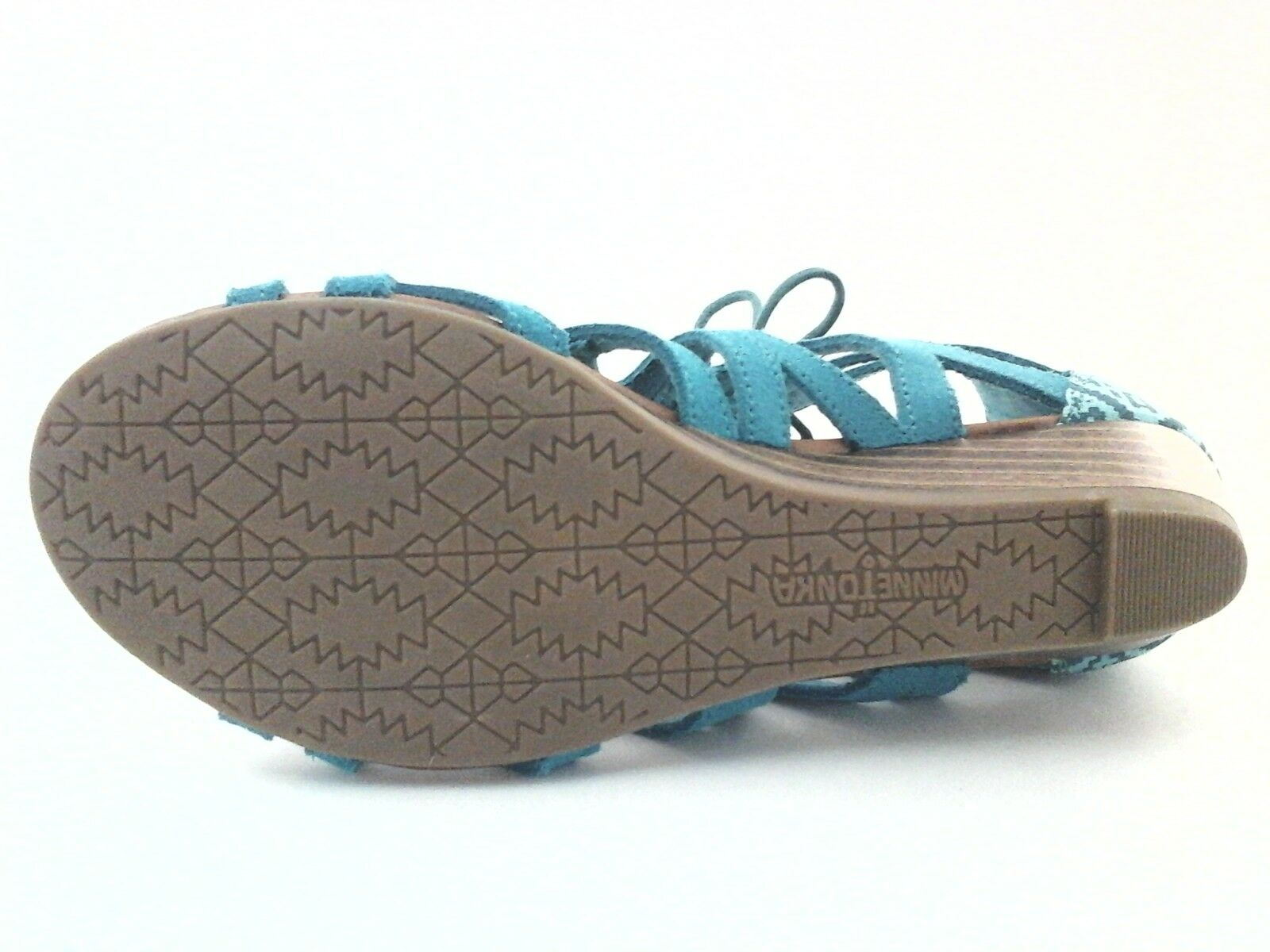 Minnetonka Merida II Lace up US Gladiator Wedge Sandales Turquoise US up 9 EU 40 UK 7.5 64f10e