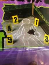 Crime Scene Kit Police Csi Tape Chalk Evidence Markers For Sale Online Ebay