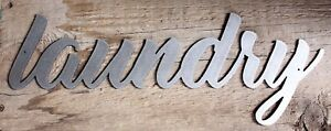 Laundry-Industrial-Metal-Wall-Art-Sign-15-034-x-5-034